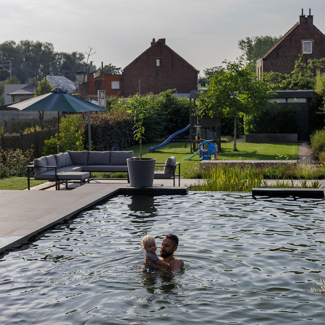 Zwemvijver he tuinarchitect stefaan willems green for Aanleg zwemvijver