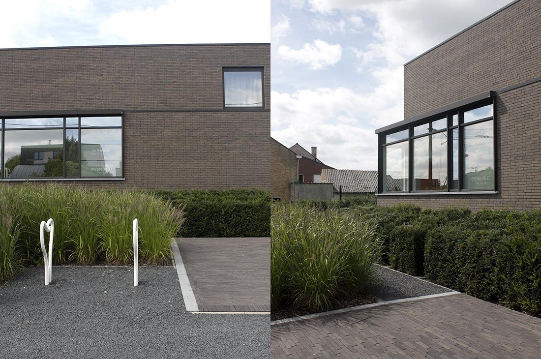 Tandartspraktijk dw tuinarchitect stefaan willems for Voortuin modern