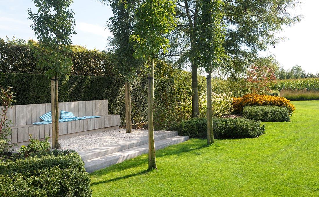 Tuin met zwembad va tuinarchitect stefaan willems for Tuinarchitect modern strak