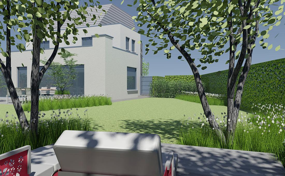 Modern bijgebouw he tuinarchitect stefaan willems green architects