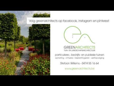 Parktuin met rozentuin, rode bloementuin, watertuin, fruittuin, vlindertuin en topiary