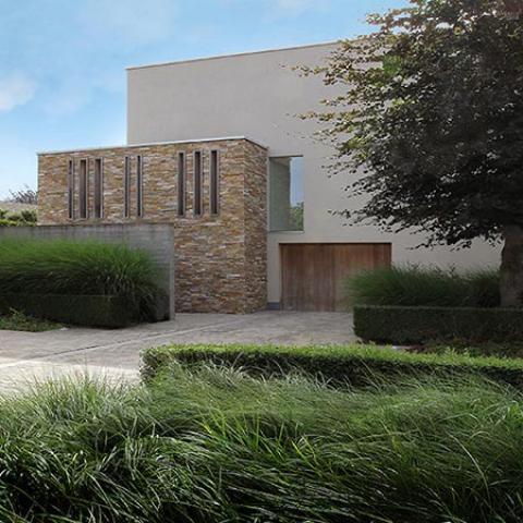 Voortuin ontwerpen en voortuin aanleggen samen met for Tuinarchitect modern strak