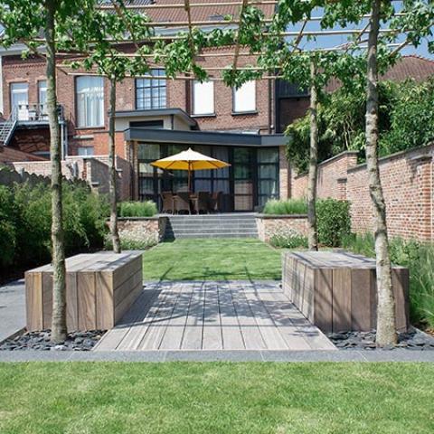 Geliefde Tuinontwerp lange smalle tuin door tuinarchitect Stefaan Willems #JY55
