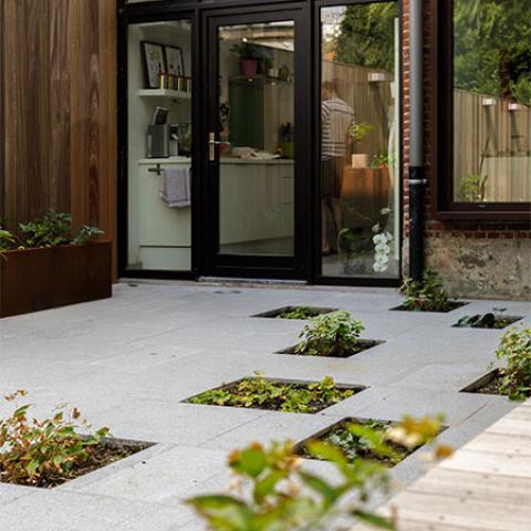 Tuinontwerp lange smalle tuin door tuinarchitect stefaan willems - Weergaven tuin lange ...