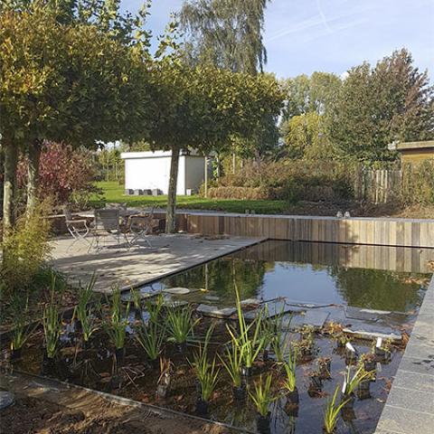 Tuinontwerp lange smalle tuin door tuinarchitect stefaan for Tuinarchitect gent